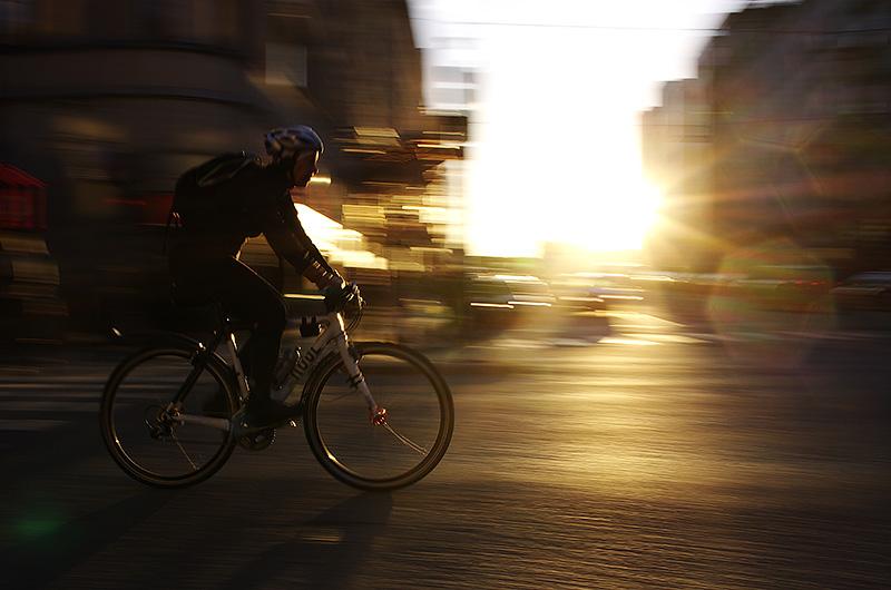Sthlm, 2012. Biker at sunset