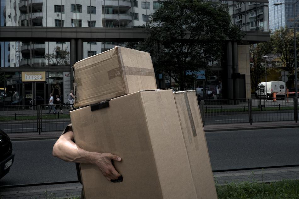 Warsaw, 2014: sidewalk manoeuvres